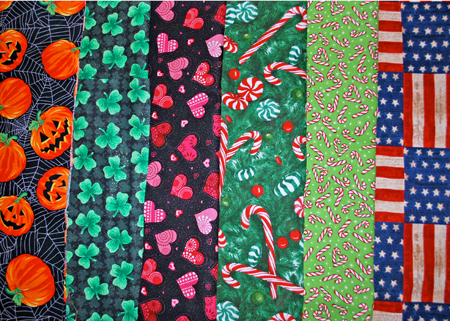 Holiday Print Fabric Collar Covers